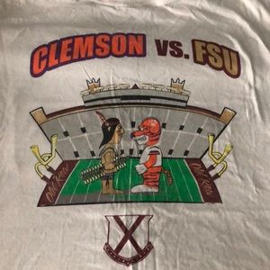 Old row FSU vs. Clemson T-shirt
